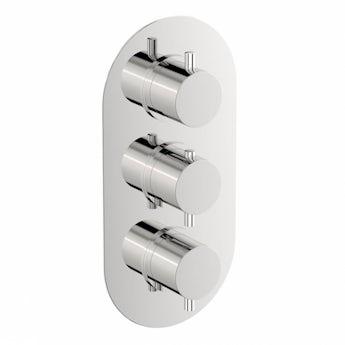 Mode Matrix oval triple thermostatic shower valve