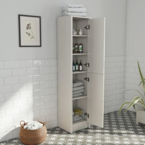 Dulwich ivory tall storage unit