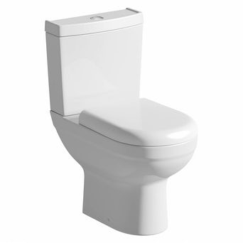 Como Close Coupled Toilet inc Soft Close Seat