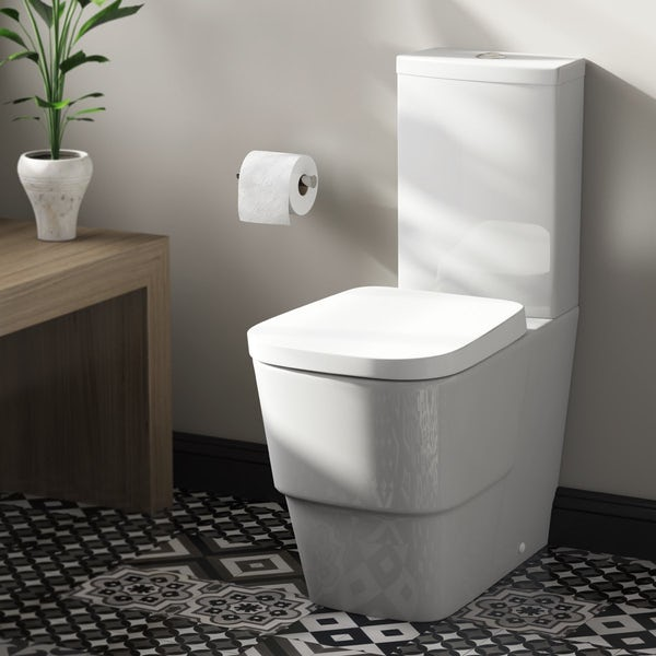 Mode Foster close coupled toilet with soft close seat