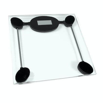 Minimal digital clear glass bathroom scales