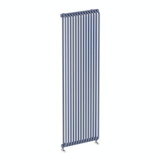 Delfin pigeon blue vertical radiator 1800 x 500