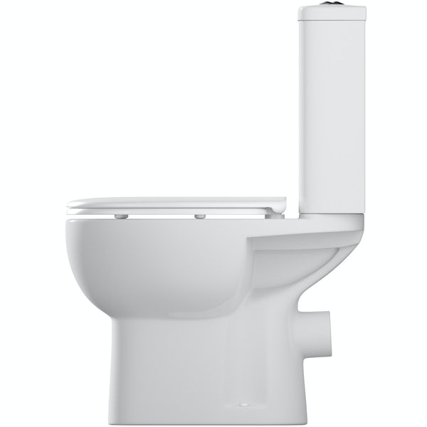 Orchard Elena close coupled toilet with soft close seat and pan connector