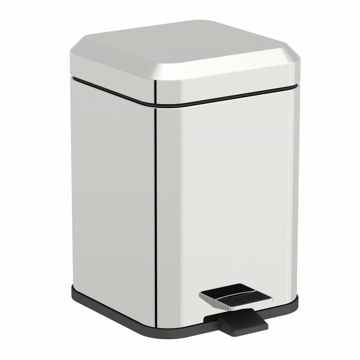 Orchard Options square stainless steel bathroom bin 5 litre