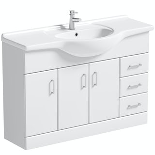 Orchard Eden white vanity unit and basin 1200mm