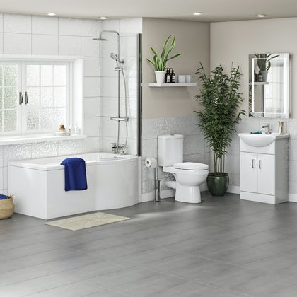 Orchard Eden complete right handed shower bath suite