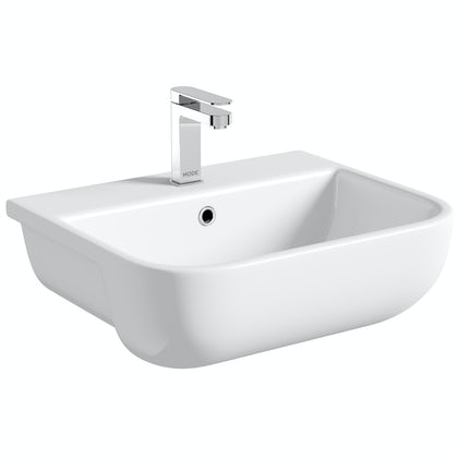 RAK Series 600 semi recessed basin with 1 tap hole 420mm