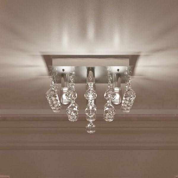 Forum ora square flush bathroom ceiling light