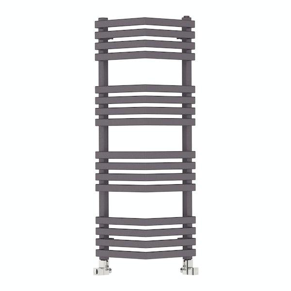 Outcorner modern grey heated towel rail 1005 x 300