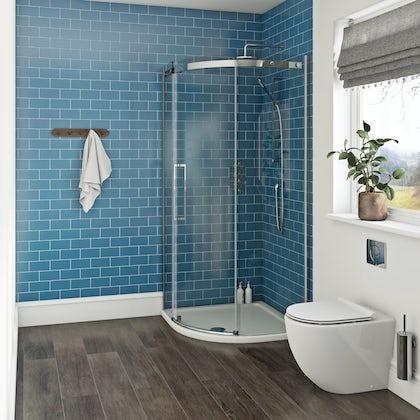 Mode Harrison 10mm easy clean quadrant shower enclosure 900 x 900