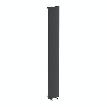 Korlea black vertical radiator 2000 x 280