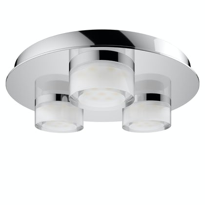 Forum Amalfi 3 light flush bathroom ceiling light