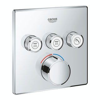 Grohe SmartControl square concealed 3 way shower valve trimset