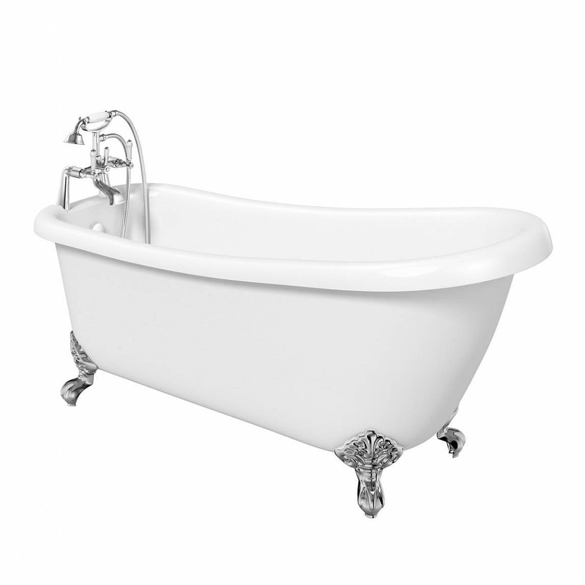 The bath co winchester slipper bath with ball feet offer for Small baths 1200