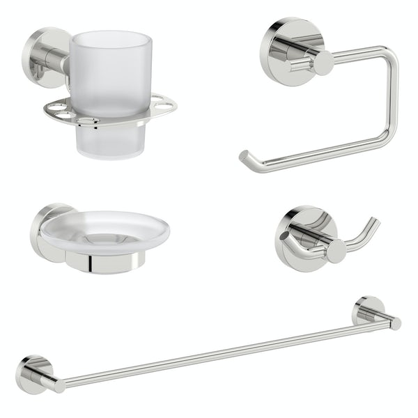 Orchard Elsdon round ensuite 5 piece accessory set