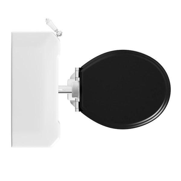 Camberley Low Level Toilet inc Luxury Black Seat
