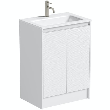 Mode Banks matt white vanity unit 600mm