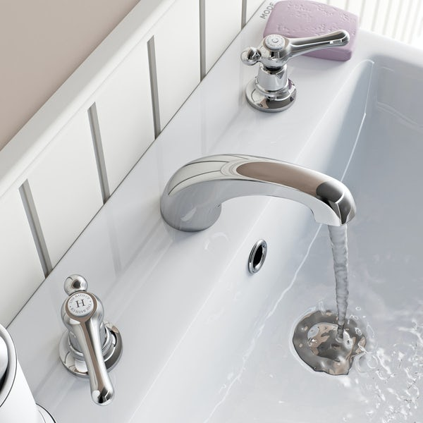 The Bath Co. Camberley lever 3 hole basin mixer tap