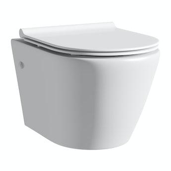 Mode Harrison rimless wall hung toilet inc slimline soft close seat