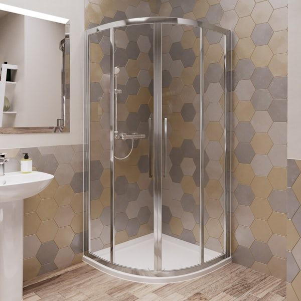 Ideal Standard 6mm sliding Idealclean quadrant shower enclosure 900 x 900