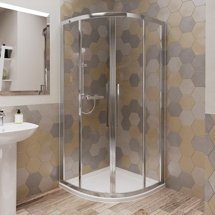 Ideal Standard 6mm sliding Idealclean quadrant shower enclosure 900 x 900