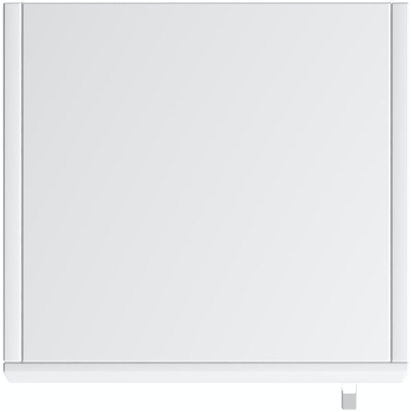 Eden white tall storage unit 330mm