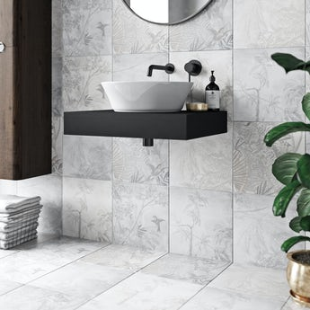 Ted Baker Paradise matt grey wall and floor tile 331mm x 331mm