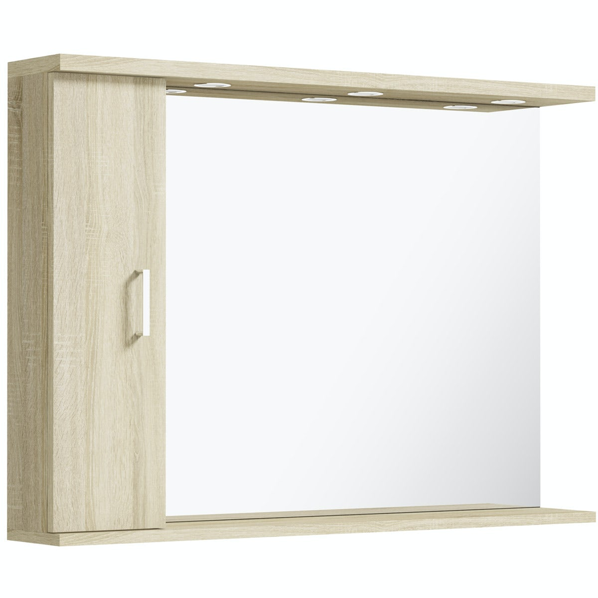 Orchard Eden oak illuminated mirror 1050mm