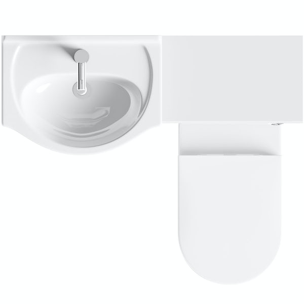 Eden white 1040 combination with Mode Arte back to wall toilet
