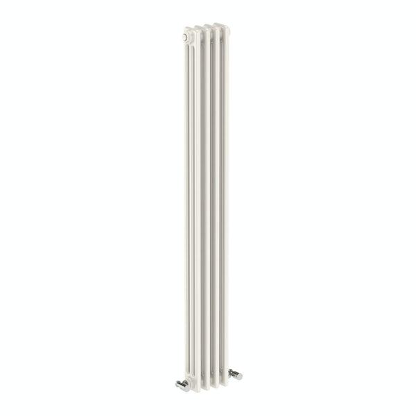 Vertical white triple column radiator 1500 x 155