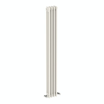 Vertical white triple column radiator 1500 x 200 offer pack