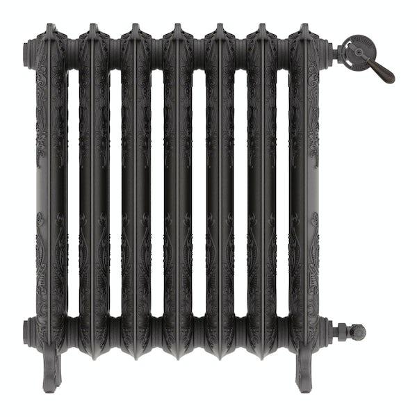Oxford raw metal freestanding cast iron radiator 710 x 606