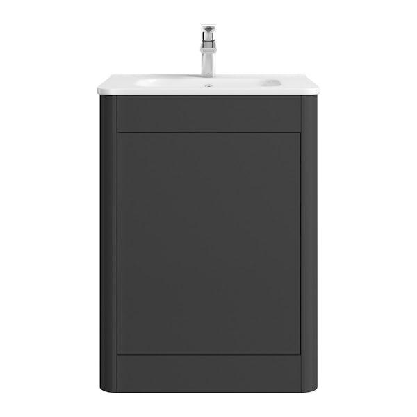 Mode Carter slate vanity unit and basin 600mm
