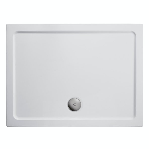 Ideal Standard Tesi complete shower door suite with furniture units, tap, shower system, tray and wastes 1200
