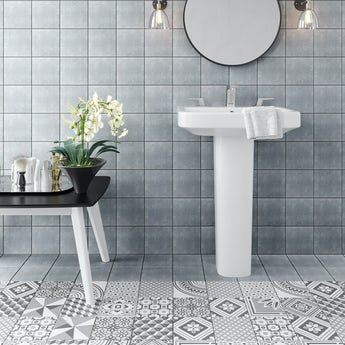 Ted Baker VersaTile light grey wall and floor tile 148mm x 148mm