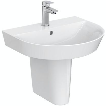 Ideal Standard Concept Air Arc 1 tap hole semi pedestal basin 550mm