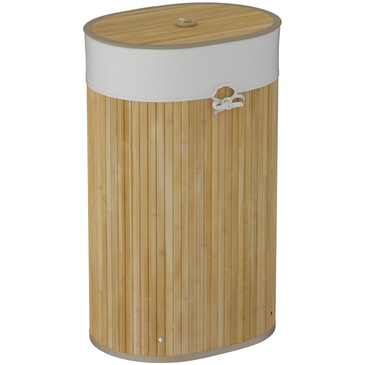Orchard Natural bamboo oval laundry basket
