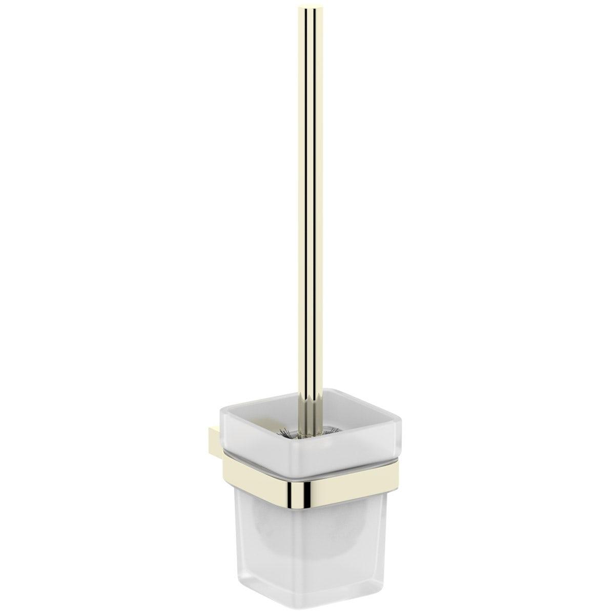 Mode Spencer gold toilet brush and holder