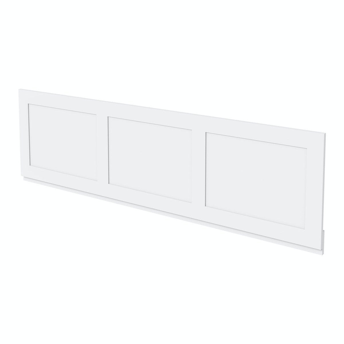The Bath Co. Camberley white wooden straight bath front panel 1700mm