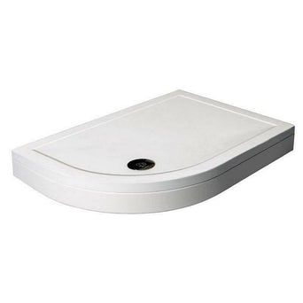Offset Quadrant Stone Shower Tray & Riser Kit 1200 x 900 LH