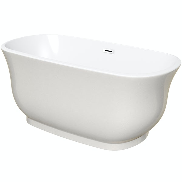 The Bath Co. Camberley pearl coloured traditional freestanding bath 1500 x 720