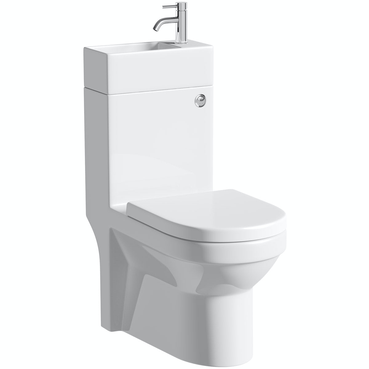 Orchard Wharfe compact all in one toilet and basin unit with tap with waste and pan connector