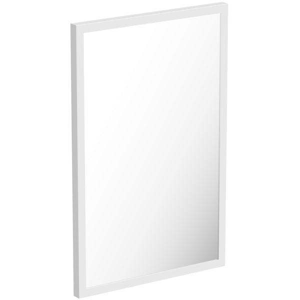 Mode Hale white gloss mirror 500 x 800mm