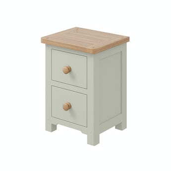 MFI Rome oak and mellow sage 2 drawer bedside