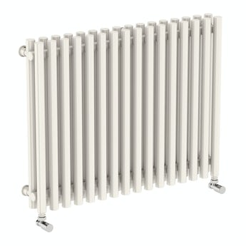 Terma Tune soft white double horizontal radiator 600 x 790