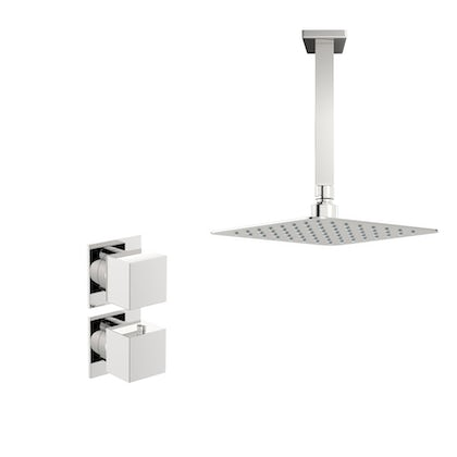 Mode Cooper thermostatic shower valve with ceiling shower set