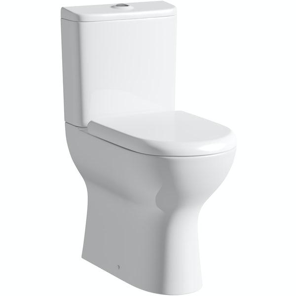 Heath Raised Height Close Coupled Toilet inc. Luxury Soft Close Seat