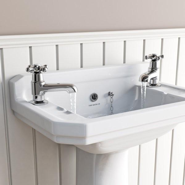 The Bath Co. Camberley basin pillar taps offer pack