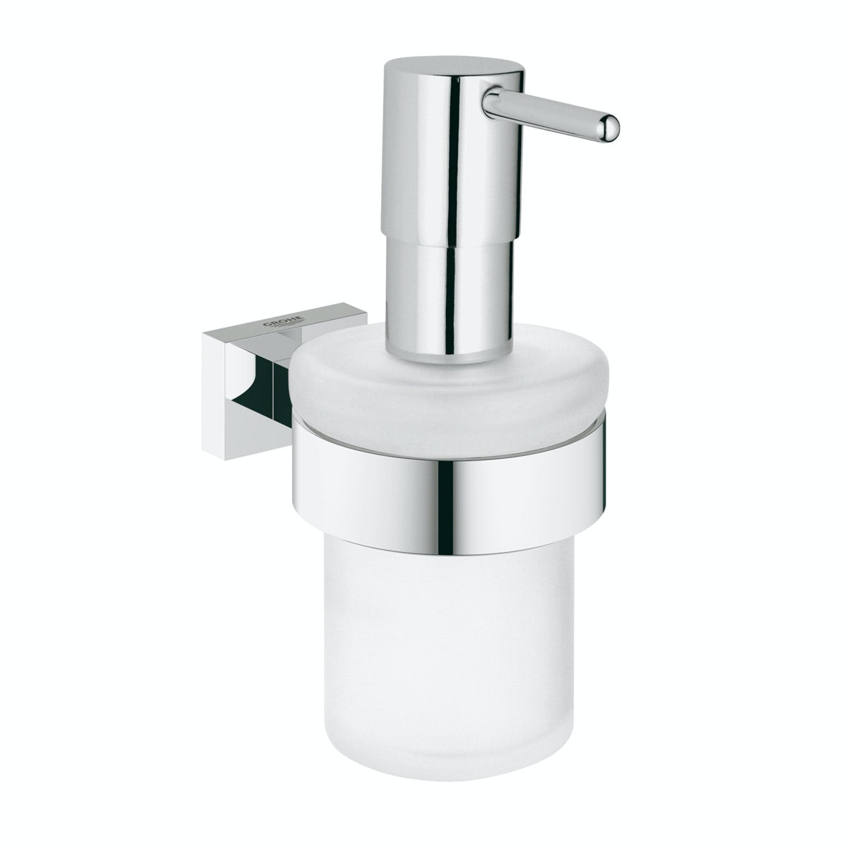 Grohe Essentials Cube soap dispenser and holder