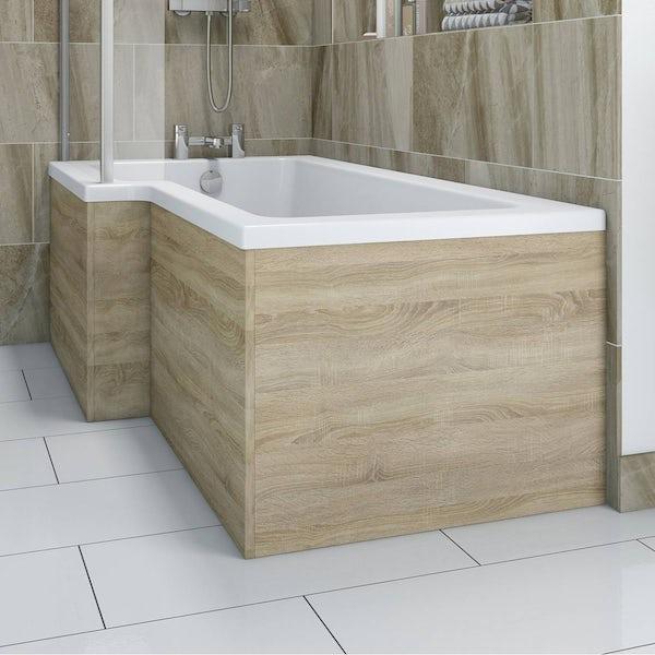 Boston Oak Shower Bath End Panel